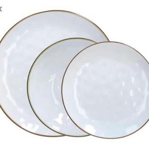 Set de farfurii Glace, 18 piese, alb
