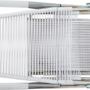 Șezlong Spaghetti alb, 60x110x48cm