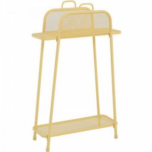 Stand pentru ghiveci, galben, 105,5 x 65,5 x 27 cm