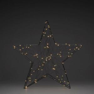 Stea iluminata, 100 lumini, metal, 60 x 60 x 11 cm, 1,5w