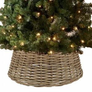 Suport brad de Crăciun din ratan, maro