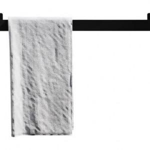 Suport prosoape Kari, negru, 60 x 6 x 6cm
