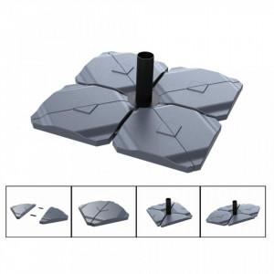 Suport Triangle pentru umbrela, plastic, antracit