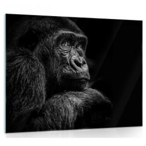 """Tablou """"Gorilla"""", negru/gri inchis, 80 x 60 cm"""