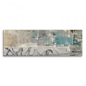 Tablou Abstrakt 528, gri, 50 x 150 x 2 cm