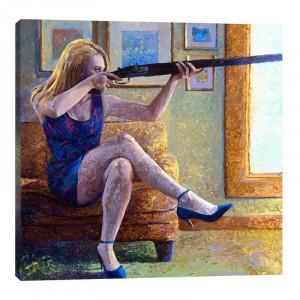 Tablou canvas Claire's Gun , 121.92 x 121.92