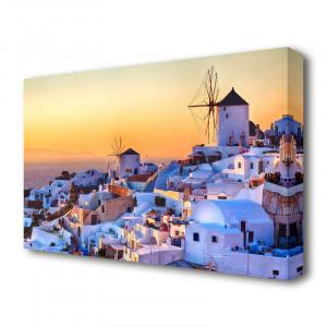Tablou canvas 'Sunset in Santorini Greece' Photographic Print