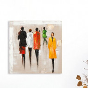 Tablou, poliester, multicolor, 70 x 70 cm