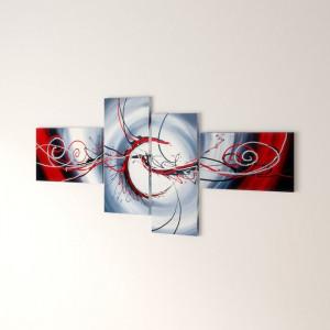 Tablou Saundra, 4 piese, 70 x 160 x 2 cm