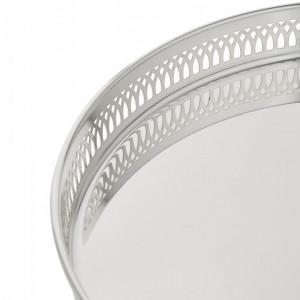 Tavă rotundă cu aspect de oglindă Delphi, 30 cm
