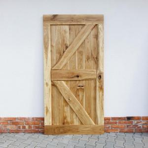 Usa glisanta Deephave, lemn masiv de stejar, maro