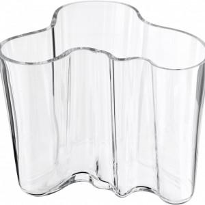 Vaza Alvar Aalto, transparenta, 16 x 12 cm