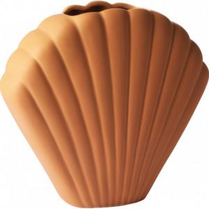 Vaza Shell din teracota, H 25 cm