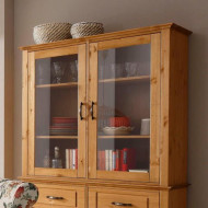 Vitrina Home Affaire, 2 usi, lemn masiv 108/37/100