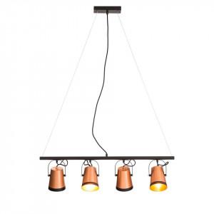 Lustra Trend Buckets, aluminiu / fier, 4 becuri