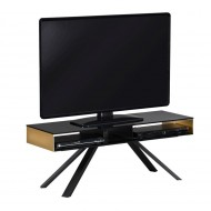 Comoda TV Smart TV negru/cupru