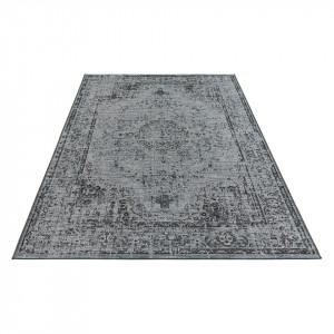 Covor Cenon - fibre sintetice - gri inchis - 154 x 230 cm