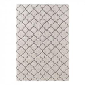 Covor din fibre sintetice Luna Crem / Antracit 120 x 170 cm