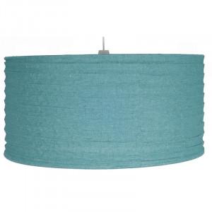 Abajur textil, albastru fumuriu, 23x35 cm