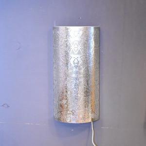 Aplica Censier, metal, argintie, 40 x 20 x 10 cm