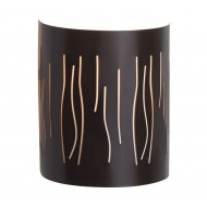 Aplica de perete Kinley metal/sticla, maro, 1 bec, 220 V