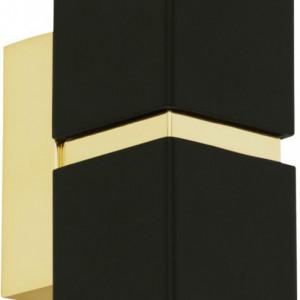 Aplica Passa II, metal, neagra, 5,5 x 17 x 8,5 cm, 33w