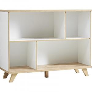 Biblioteca Angelique, PAL, alb/maro, 93 x 120 x 40 cm
