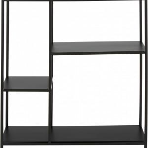 Bibliotecă Newton din metal, negru mat, 80 x 80cm