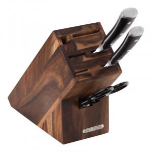 Bloc pentru cutite Premium, lemn, maro inchis