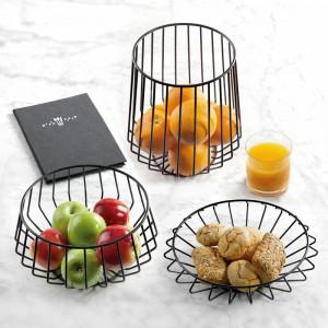 Bol pentru fructe din metal, negru