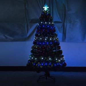 Brad artificial de Craciun cu stea, 130 de lumini