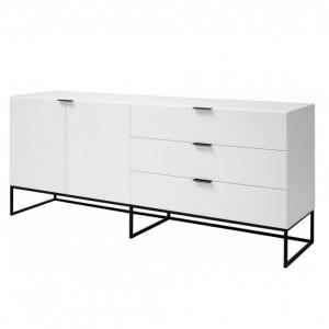 Bufet Kobe, alb/negru, 180 x 80 x 45 cm