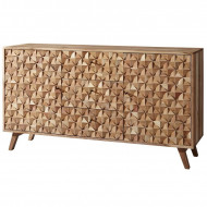 Bufet Rewa, lemn masiv, maro, 79 x 140 x 40 cm