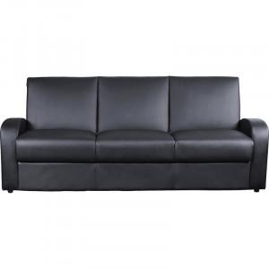 Canapea extensibilă Cauldwell cu 3 locuri, negru, 86cm H x 204cm W x 79cm D
