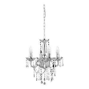 Candelabru cu 4 lumini din cristal, 42 x 49 cm