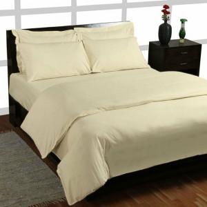 Cearșaf de pat Percale, crem, 198 cm