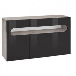 Comoda Places of Style, functie push-to-open, beton/antracit, 135 x 40 x 81 cm