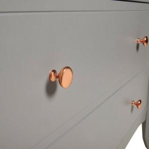 Comodă Trent 3 cu sertare, gri, 80cm H x 97cm W x 45cm D