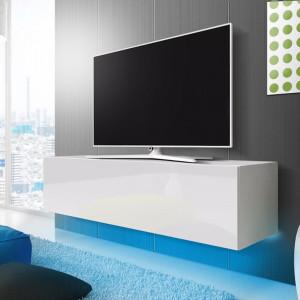 """Comodă TV 55 """" Lana, albă, 160cm L x 34cm H x 40cm D"""