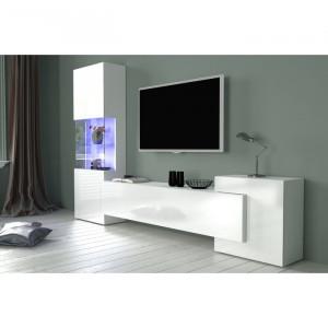 Comoda TV Claire, 175x270x35 cm, alb