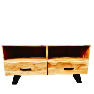 Comoda TV Jeena, lemn masiv, 113 x 40 x 56 cm