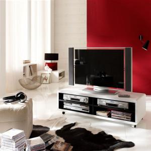 Comoda TV Jeffrey II - alb/negru