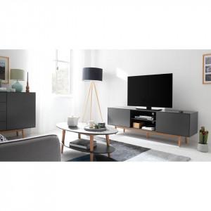 Comoda TV Lindholm 180 cm, MDF, gri