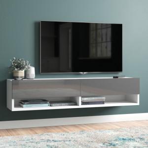 Comoda TV McGray, PAL, gri, 140 x 30 x 32 cm