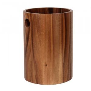 Cos de gunoi Almanzar, lemn, maro, 25,2 x 17,8 x 17,8 cm