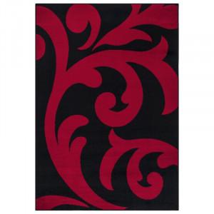 Covor Antonetta negru / roșu, 60 x 110 cm