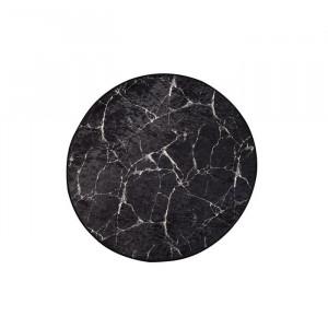 Covor Clifton, catifea, alb/negru, 100 cm