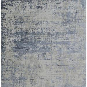Covor Cordoba cu franjuri, albastru/gri, 190 x 130 cm