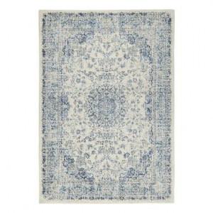Covor Eileen 2 alb/blu, 133x190 cm