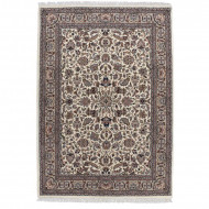 Covor realizat manual Benares, lana, maro, 40 x 60 cm